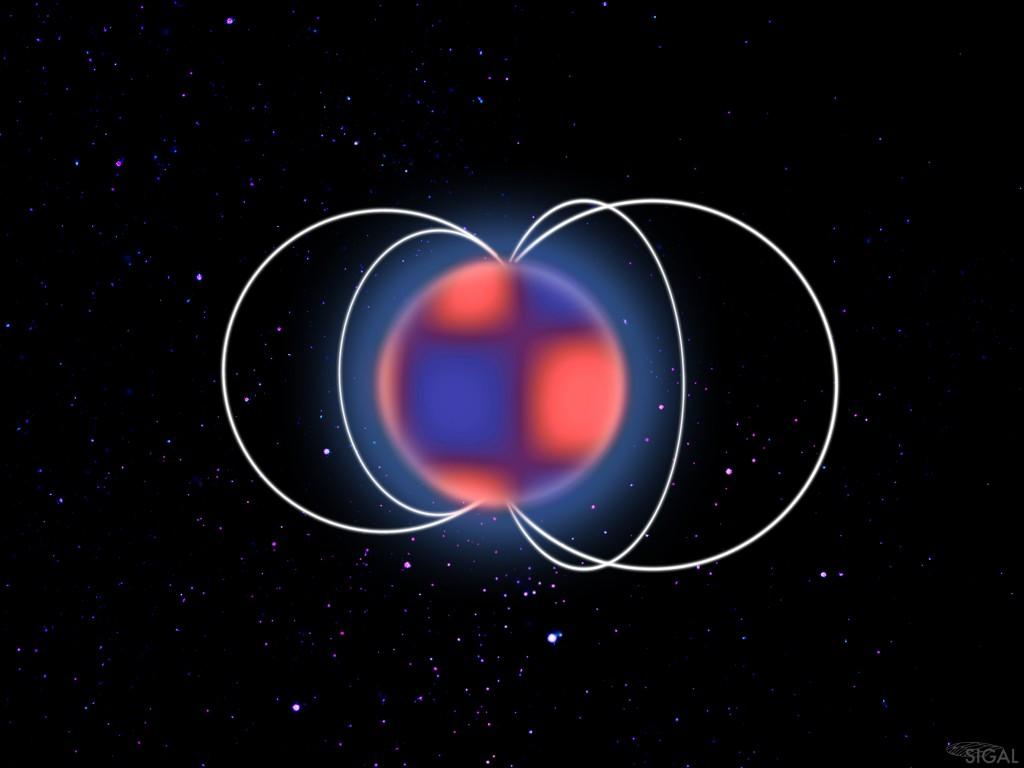 Illustration d'une étoile delta Scuti magnétique © Sylvain Cnudde LESIA / Observatoire de Paris