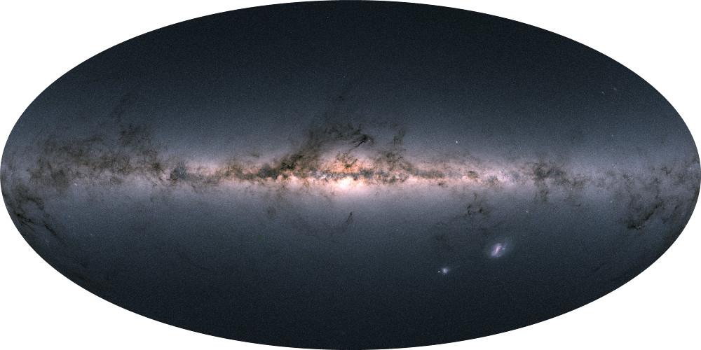 First Gaia skymap in colour.