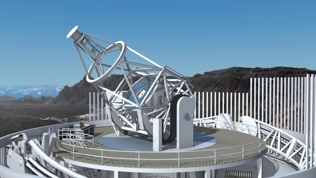 Artist's view of the European Solar Telescope (EST). Credit: EST