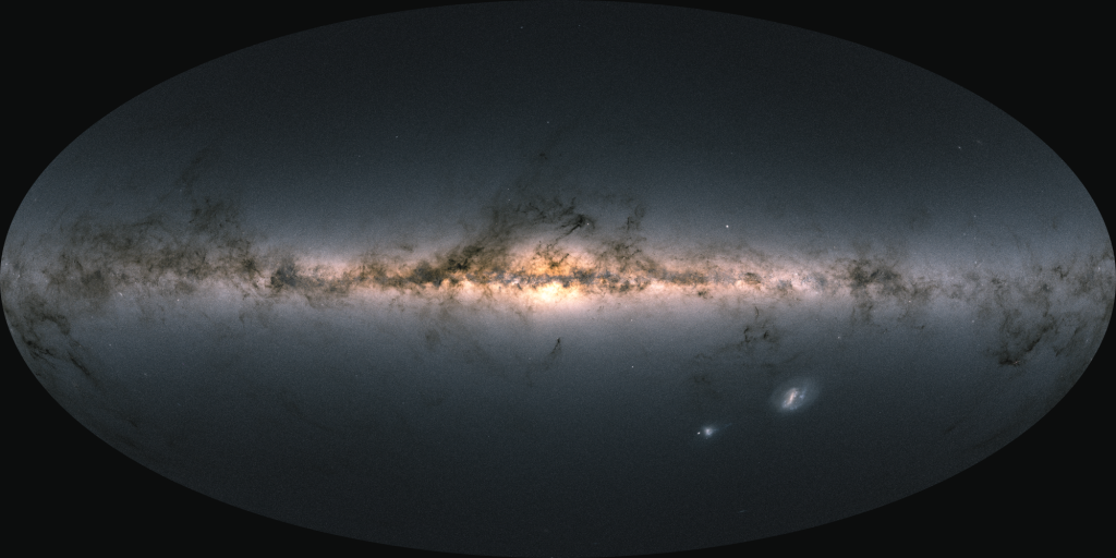 map of the galaxy with Gaia Early Data Release 3