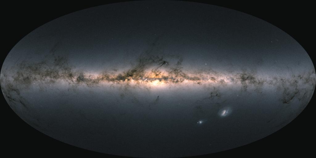 Carte de la Galaxie faite avec les données de Gaia EDR3
