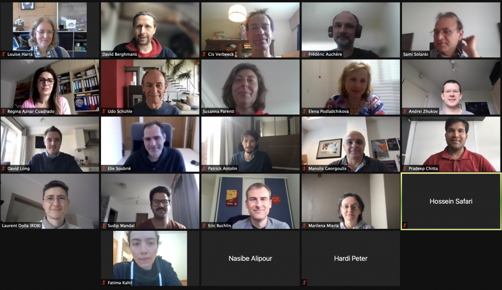 Zoom screenshot of the EUI online scientific conference on May 10 2021
