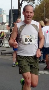 Martin Groenewegen tijdens een running sportevent.
