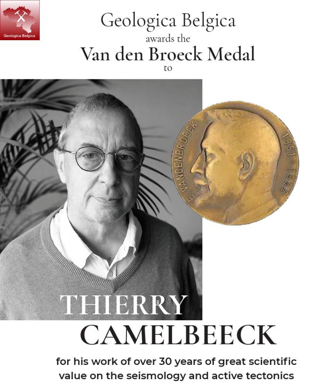 Thierry  Camelbeeck Aankondiging Van den Broeck Medal